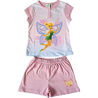 Girls Disney Fairies Tinkerbell Short Pyjamas Set in the Box
