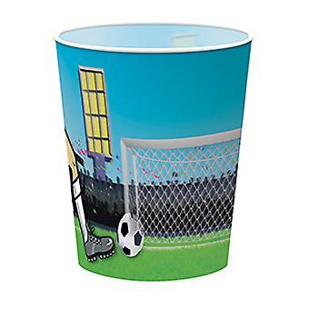 Ποδόσφαιρο κούπα πλαστική ύλη 4 pcs με Ολοφαινόμενο ποδόσφαιρο κόμμα γενεθλίων ποδοσφαίρου