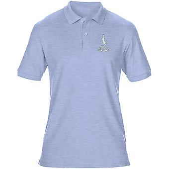Queens próprios Buffs bordado logotipo - oficial de exército britânico Mens Polo camisa