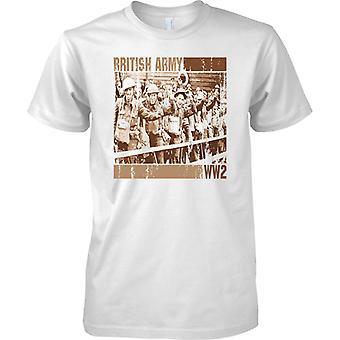 Los soldados del ejército británico WW2 Pop Art Design - camiseta para hombre