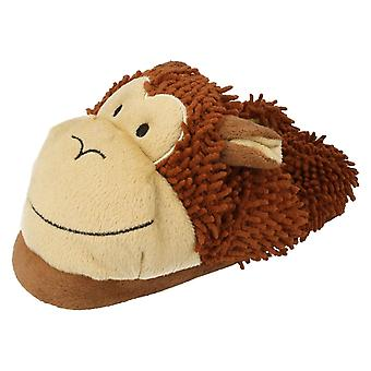 Childrens Eaze Monkey Slippers X2072