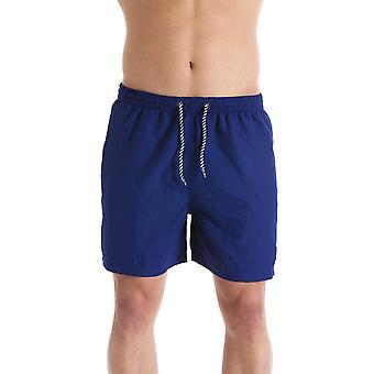 INDIAN AFFAIRS Mens Navy Blue Swimming Shorts