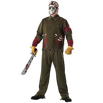 Jason Voorhees Deluxe Horror Friday The 13th menn drakt