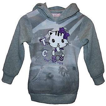 Mädchen Pullover Katze (Kitty) Hoodie Fleece