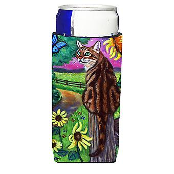 Bengal Cat Michelob Ultra beverage insulators for slim cans