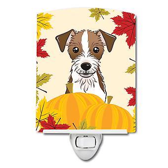 Jack Russell Terrier Dziękczynienia ceramiczne Night Światło