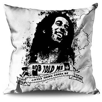 Marley Rasta Celebrity Linen Cushion 30cm x 30cm | Wellcoda