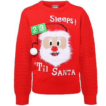 Christmas Shop Childrens/Kids 3D Countdown Jumper With Touch Fastening