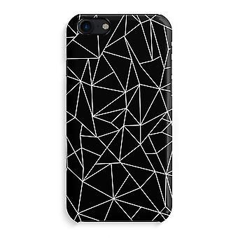 iPhone 7 pełne sprawę Print (błyszcząca) - geometryczne linie białe