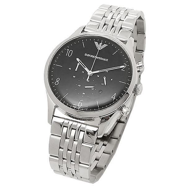 Emporio Armani Chronograph Mens Watch acier inoxydable bracelet cadran noir AR1863