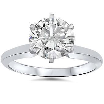 1 1 / 2ct Solitaire diamant forlovelsesring 14K hvitt gull