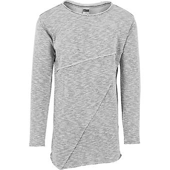 Urban classics - grey asymetric long Terry crewneck
