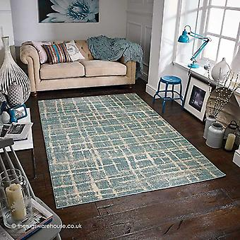 Zarah lijnen blauw tapijt