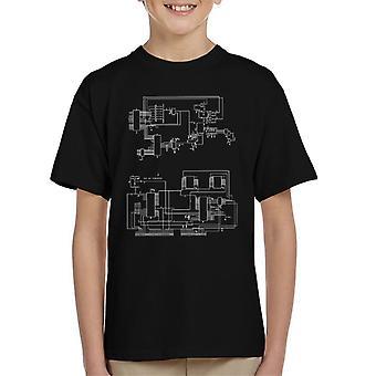 T-Shirt de TRS 80 ordinateur schématique Kid