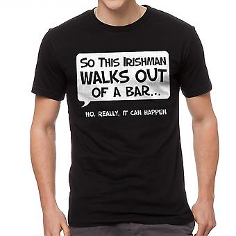 Humor So An Irishman Men's Black T-shirt