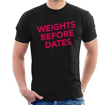 Gewichten voor datums sportschool inspiratie mannen T-Shirt