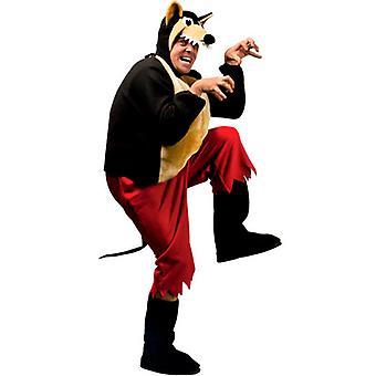 Grote Boze Wolf kostuum (broek jas Bcovers zendspoel masker)