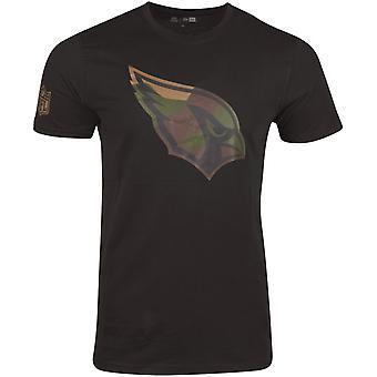 New Era Shirt - NFL Arizona Cardinals schwarz / wood camo