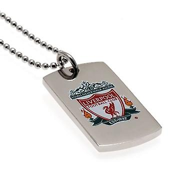 Liverpool Colour Crest Dog Tag & Chain