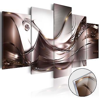 Foto på akryl - Golden Storm [Glass]