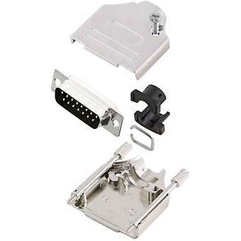 MH-Connectors MHDTZK15-DM15P-K-D-SUB pin strip set 180 ° aantal pins: 15 soldeer emmer 1 PC('s)