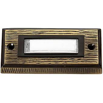 Heidemann 70301 Bell panel incl. nameplate 1x Bronze 24 V/1 A