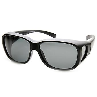 Polarized Square Fully Protected Matte Frame Fit-Over Sunglasses