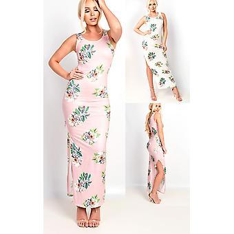 IKRUSH Womens Sierra Bodycon Floral Zip Side Maxi Dress