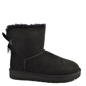 UGG Mini Bailey Bow Ii Black Suede Boot