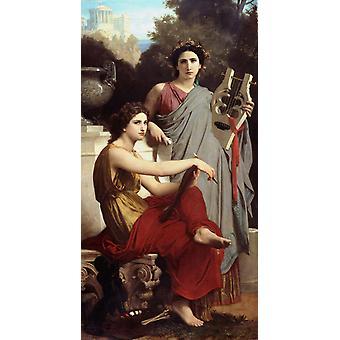 LART et la Literatur Kunst, Adolphe William Bouguereau, 80x40cm