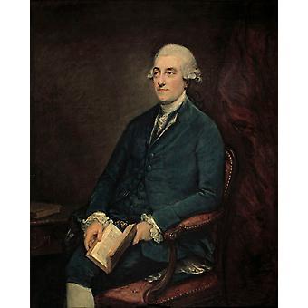 Dr. ISAAC Henrique Sequeira, Sir Joshua Reynolds, 50x40cm