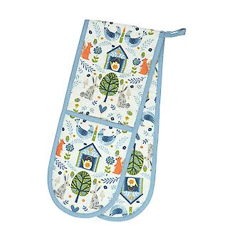 Dexam Double Oven Glove, Woodland
