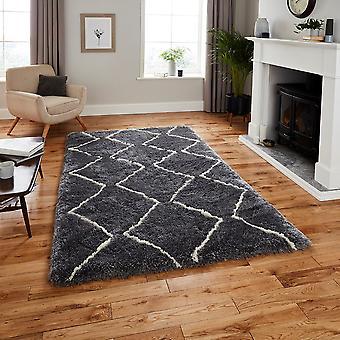 Marruecos piensa 3742 alfombras gris crema rectángulo alfombras llano casi llanos