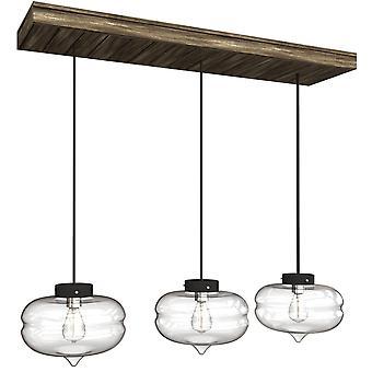 THE LAURO 3 Mini Pendant Lighting Nickel - LED Hanging Light Fixture