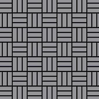 Metal mosaic Stainless Steel ALLOY Basketweave-S-S-MA