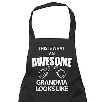 This Is What An Awesome Grandma Looks Like Black Apron