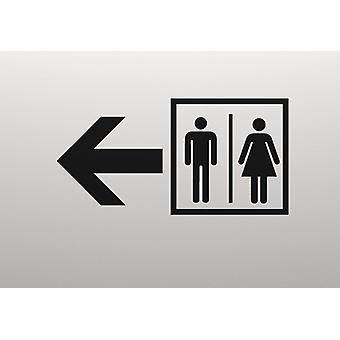 Naklejki drzwi toalety znak ściana
