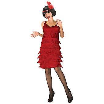 Flapper rosso 20s Gangster Charleston le donne Costume