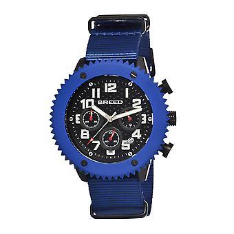 Breed Decker Nylon-Band Chronograph Men's Watch-Blue