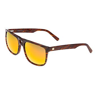 Sixty One Morea Polarized Sunglasses - Brown Tortoise/Yellow-Red