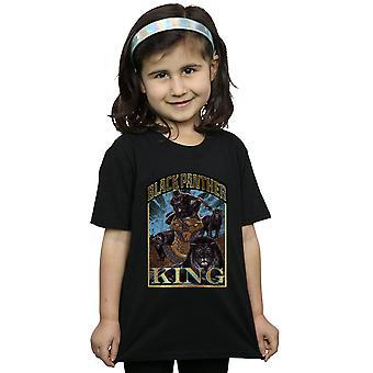 Marvel Black Panther Hommage T-Shirt für Mädchen