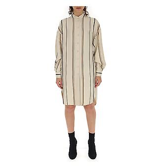 Alberta Ferretti 02101622a1045 Women's White Viscose Dress