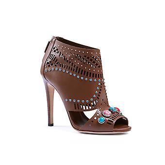 Gucci 371057a3n002548 Damen's Braune Ledersandalen