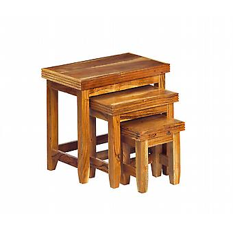 Reed Solid Acacia Nest Of 3 Tables