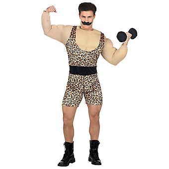 Strong man (overaller W/Muscle shirt & bälte, mustasch)