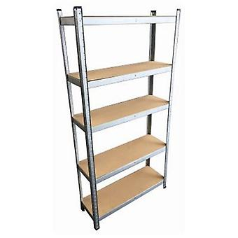 1.78m Galvanised Steel 5 Tier Shelving Unit Blackspur
