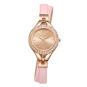 Timothy Stone Women�s JOLIET Rose Gold and Pink Leather Strap Watch