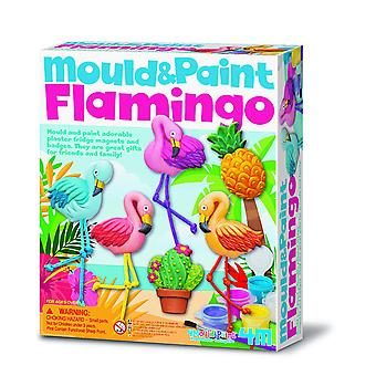 4M 404736 Flamingo Mould en verf, Multi-kleur