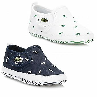 Lacoste Crib Baby Gazon Slip on First Shoes