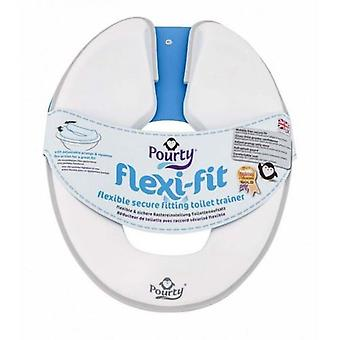 Pourty Flexi-fit Toilet Trainer (penguin White/grey) #160810/bz